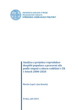 2013_Analyza a projekce reprodukce dospele populace a pracovni