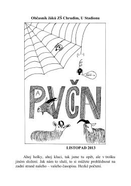 Pavucina listopad 2013