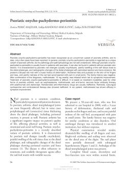 Psoriatic onycho-pachydermo-periostitis
