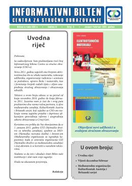 Bilten broj 3 MNE - Centar za stručno obrazovanje
