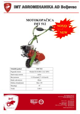 MOTOKOPAČICA IMT 512 NOVO NEW