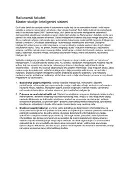 Novi plan i program za master studije - RAF-u