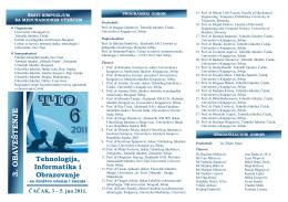 програм скупа тио 6 - Centar za razvoj i primenu nauke, tehnologije