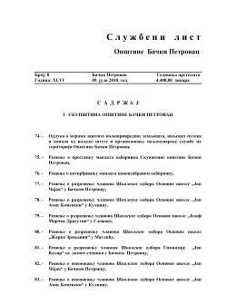 Službeni list br.8 - Opština Bački Petrovac