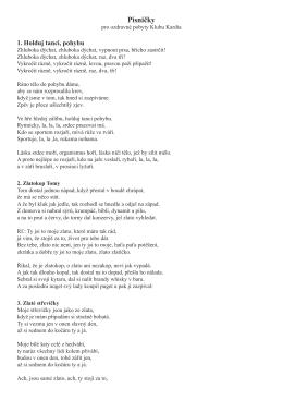 Písničky - KLUB KARDIA MOTOL