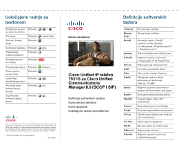 Cisco Unified IP telefon 7931G – kratko uputstvo za Cisco Unified