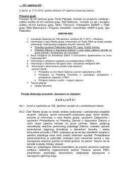 zaključci - Udruzenje/udruga poslodavaca komunalne privrede u FBiH