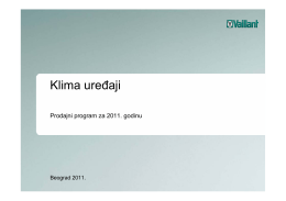 Klimatizacija - Vaillant klime 2011