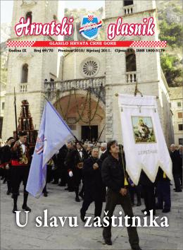 Glasnik 69-70 - Hrvatsko građansko društvo Crne Gore