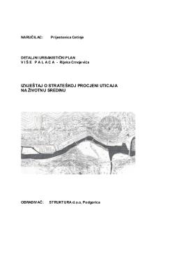 DUP Više Palaca, Rijeka Crnojevića – strateška procjena uticaja na