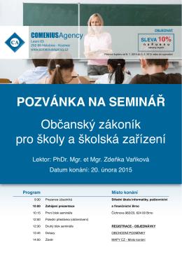 pozvánka - Comenius Agency