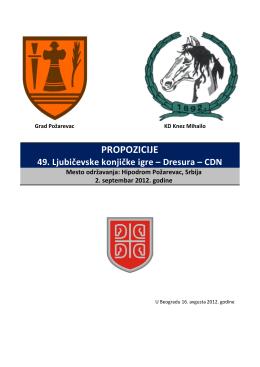PROPOZICIJE - dresura.rs