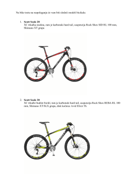 Na bike testu na raspolaganju će vam biti sledeći