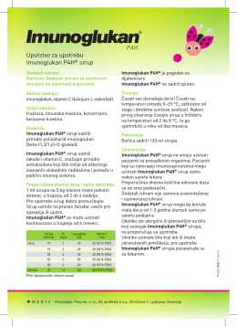 Uputstvo za upotrebu Imunoglukan P4H® sirup