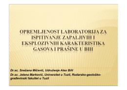 Dr.sc. Snežana Mičević, Udruženje Atex BiH Dr.sc. Jelena Marković