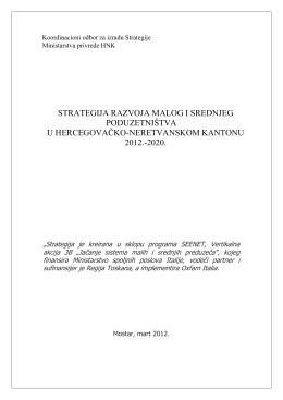 strategija razvoja malog i srednjeg poduzetništva u
