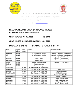 redovna kombi linija sa kućnog praga iz srbije do olimpske regije