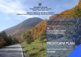 "prostorni plan - nacionalni park ""sharri"" - ammk"