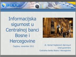 Informacijska sigurnost u Centralnoj banci Bosne i Hercegovine