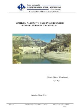 Zahtjev za obnovu izdavanje okolinske dozvole