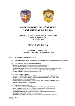 Agenda - Dani Arčibalda Rajsa