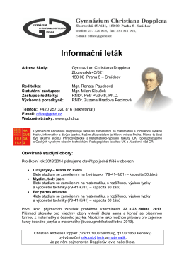 letak.pdf - Gymnázium Christiana Dopplera