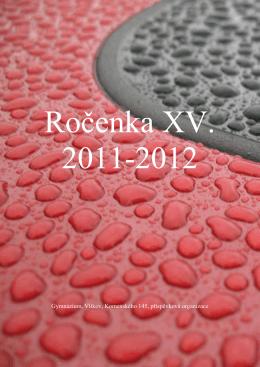 Ročenka XV-2011-2012 - Základní škola a gymnázium Vítkov