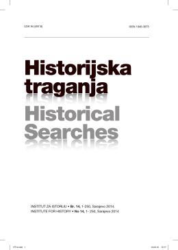 Historijska traganja, br. 14 - Institut za istoriju Sarajevo