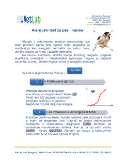 Alergijski test za pse i mačke IgE