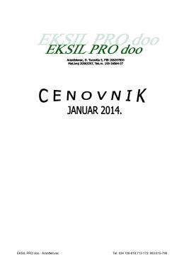 Cenovnik - EksilPro