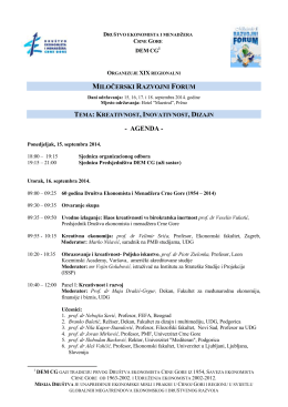 Milocerski razvojni forum - program