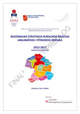 Regionalna strategija ruralnog razvoja Jablaničkog i Pčinjskog okruga
