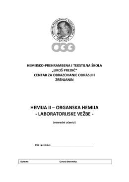 vezbe Organska hemija vanredni 2011