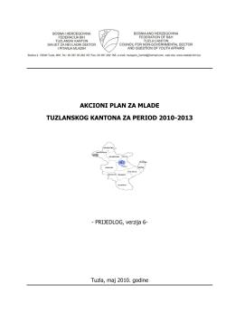 akcioni plan za mlade tuzlanskog kantona za period 2010-2013