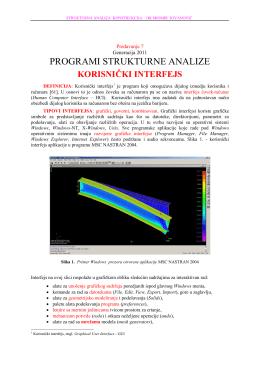 predavanje-7 2011 programi strukturnih analiza