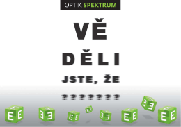 poradíme vám - Optik Spektrum
