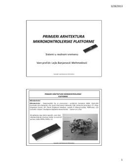primjeri arhitektura mikrokontrolerske platforme