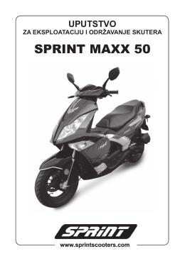 Maxx 50 uputstvo.indd - SPRINT Skuteri