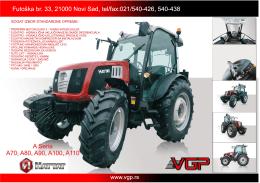 tehničke karakteristike ratarskog traktora sa kabinom euro 3