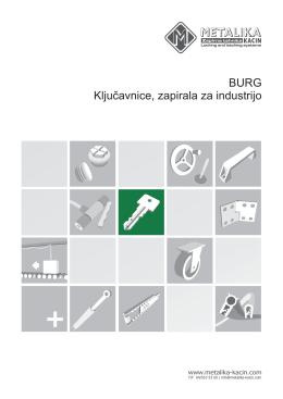 BURG Ključavnice, zapirala za industrijo
