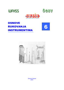 Osnovna skripta za reprocesiranje medicinskih instrumenata I pribora