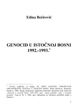 genocid u istočnoj bosni 1992.-1993. - BOSNA MUSLIM