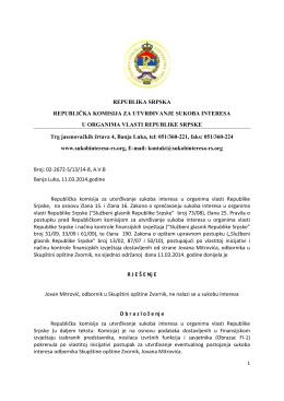 Rješenje 4 - Komisija za utvrđivanje sukoba interesa u organima