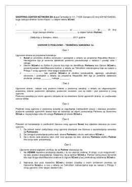 Ugovor sa Firmama Partnerima