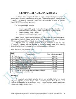 UO 7.1.003. Plan upravljanja otpadom farme za tov pilića