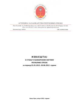 2 IZVJESTAJ o BANKARSKOM sistemu sa 30 06 2012