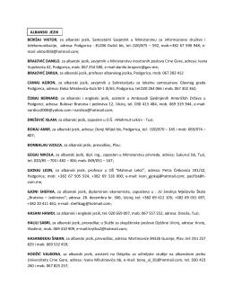 Sudski tumaci - spisak ažuriran 10 maja 2013