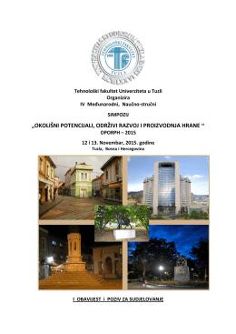 Prva obavijest - Tehnološki fakultet