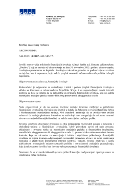 Alltech izveštaj SAS 2013