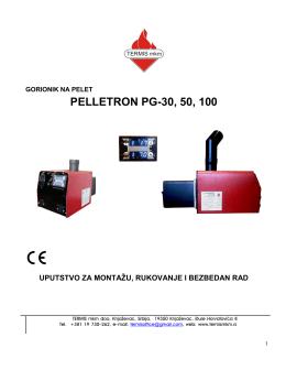 PELLETRON PG-30, 50, 100 - TERMIS mkm gorionik na pelet